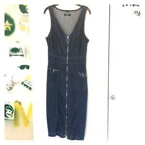 7 for all Mankind Denim ZIP Front Dress, Size M
